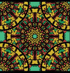 Seamless ornate mandala wallpaper design over vector