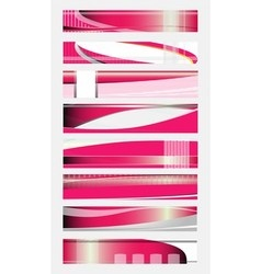 Set Banners on different themes pink color vector