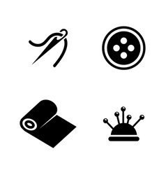 sewing equipment needlework simple related vector image