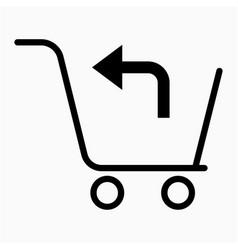 Shopping return icon vector