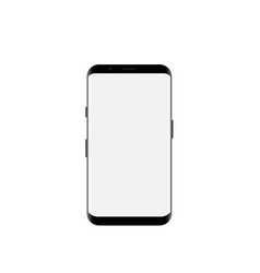 smartphone mockup with blank white screen vector image