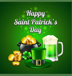 st patricks day concept on green background vector image