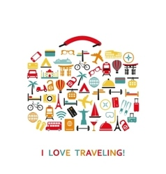 Sutecase from travel icons vector image