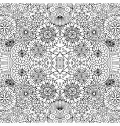 Symmetrical floral seamless background vector image