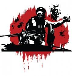 Tank commander vector