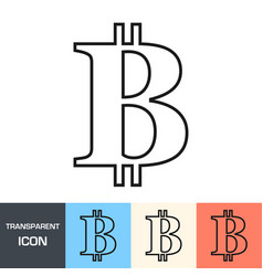 transparent bitcoin sign icon vector image