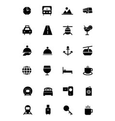 Travel Solid Icons 2 vector image