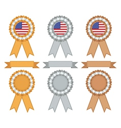 Usa gold silver and bronze vector