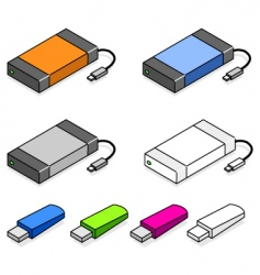 USB storage devices vector