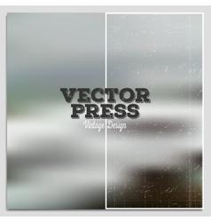 Vintage design press template Summer time vector