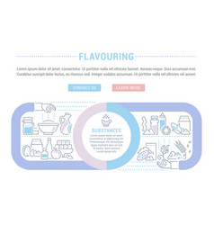 Website banner and landing page flavouring vector