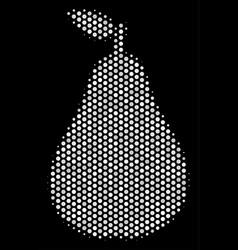 white halftone pear icon vector image