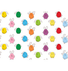 easter seamless pattern bunnies vector image