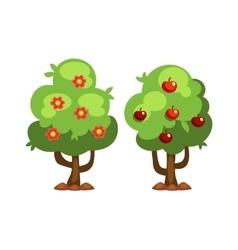 Garden tree with flowers vector image