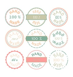 Hand Made Badge vector image vector image