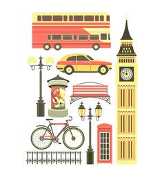 set of london objects vector image