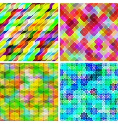 Set of seamless geometric pattern vector image vector image