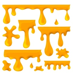 honey blots splashes and smudges vector image vector image