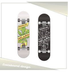 Medical marijuana skateboard eight vector