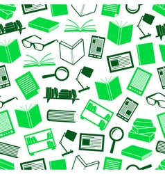reading books theme set of simple icons seamless vector image