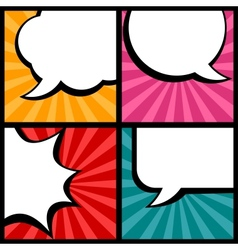Set of speech bubbles in pop art style vector image vector image