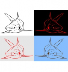 shark set vector image