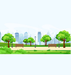 a beautiful summer park vector image