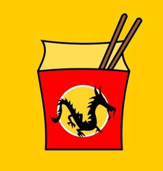 Chinese fastfood restaurant logo vector image