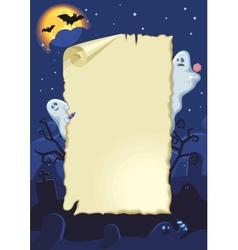 Empty halloween card vector image
