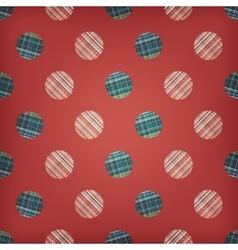 seamless circles abstract ornament vector image