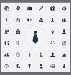 set of simple hr icons elements award earmuff vector image vector image