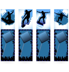 web elements on urban grunge background with skate vector image vector image