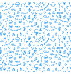 background for cute little boys and girls doodle vector image