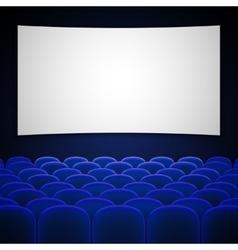 Cinema movie theatre interior vector