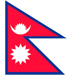 nepalese flag vector image vector image