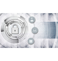 personal data protection abstract background vector image