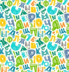 Retro alphabet pattern vector image