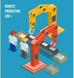 Robotic production line vector image vector image