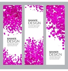 Set of Vertical Poster Banners Templates vector image vector image