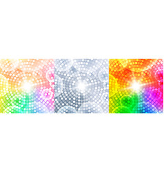 abstract circular background set disco banner vector image
