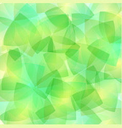 abstract mosaic green glasses background art vector image
