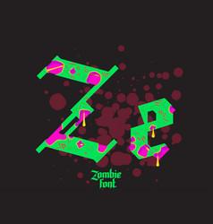 Acid zombie gothic font vector