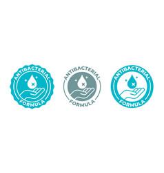 Antibacterial hand gel sanitizer icon anti vector