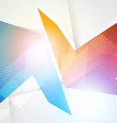 Arrows abstract geometric background vector image