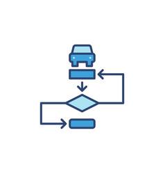 Autonomous vehicle algorithm blue modern vector