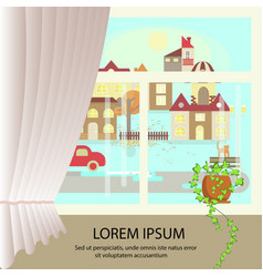 Autumn colorful landscape banner vector