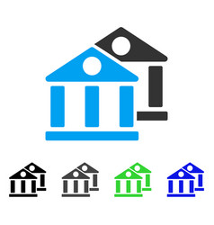 banks flat icon vector image