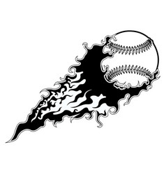 baseball ball with an effect icon vector image