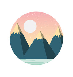 beautiful landscape with mountains vector image