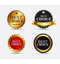 Best Choice Label Set vector image